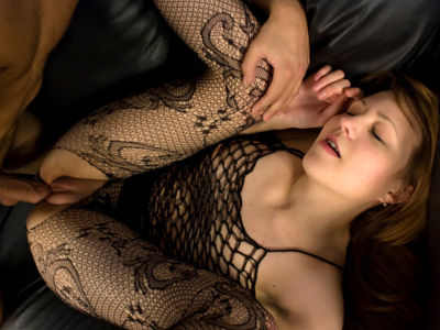 Insatiable Teenager In Fishnet Screwed